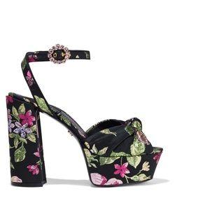Dolce and Gabbana floral platform heels size 40